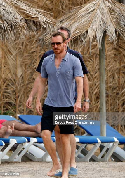 Michael Fassbender is seen on July 7 2017 in Ibiza Spain