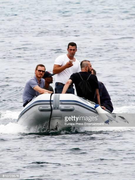 Michael Fassbender is seen on July 7 2017 in Ibiza Spain