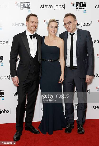 Michael Fassbender Kate Winslet and Danny Boyle attend the 'Steve Jobs' Closing Night Gala during the BFI London Film Festival at Odeon Leicester...