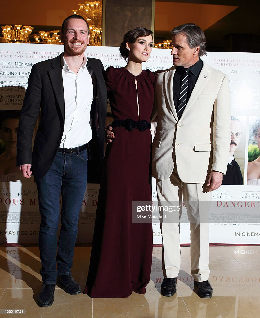 <a gi-track='captionPersonalityLinkClicked' href=/galleries/search?phrase=Michael+Fassbender&family=editorial&specificpeople=4157925 ng-click='$event.stopPropagation()'>Michael Fassbender</a>, <a gi-track='captionPersonalityLinkClicked' href=/galleries/search?phrase=Keira+Knightley&family=editorial&specificpeople=202053 ng-click='$event.stopPropagation()'>Keira Knightley</a> and <a gi-track='captionPersonalityLinkClicked' href=/galleries/search?phrase=Viggo+Mortensen&family=editorial&specificpeople=239525 ng-click='$event.stopPropagation()'>Viggo Mortensen</a> attend the UK gala premiere of 'A Dangerous Method' at The Mayfair Hotel on January 31, 2012 in London, England.