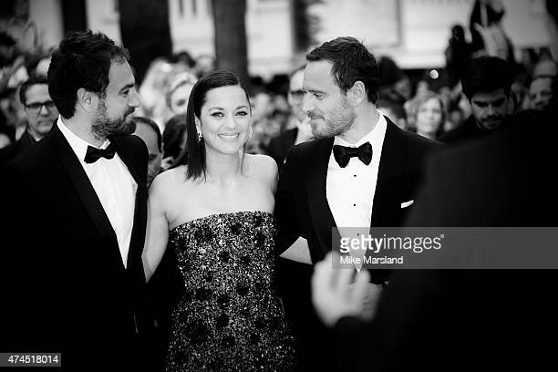 Michael Fassbender Marion Cotillard and Justin Kurzel attend the 'Macbeth' Premiere during the 68th annual Cannes Film Festival on May 23 2015 in...