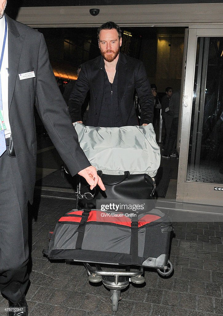 Michael Fassbender seen at LAX airport on February 28 2014 in Los Angeles California