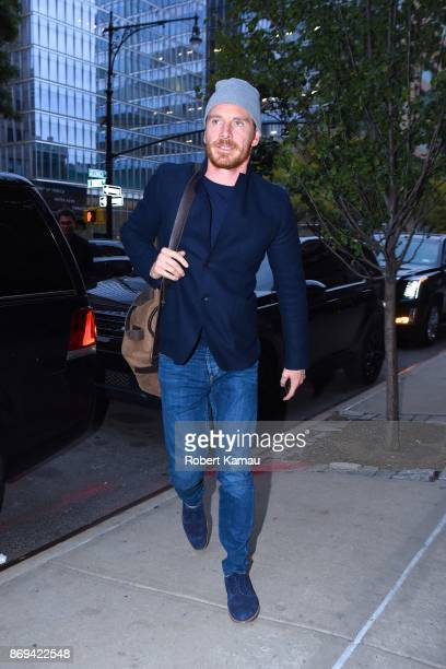 Michael Fassbender seen out in Manhattan on November 1 2017 in New York City