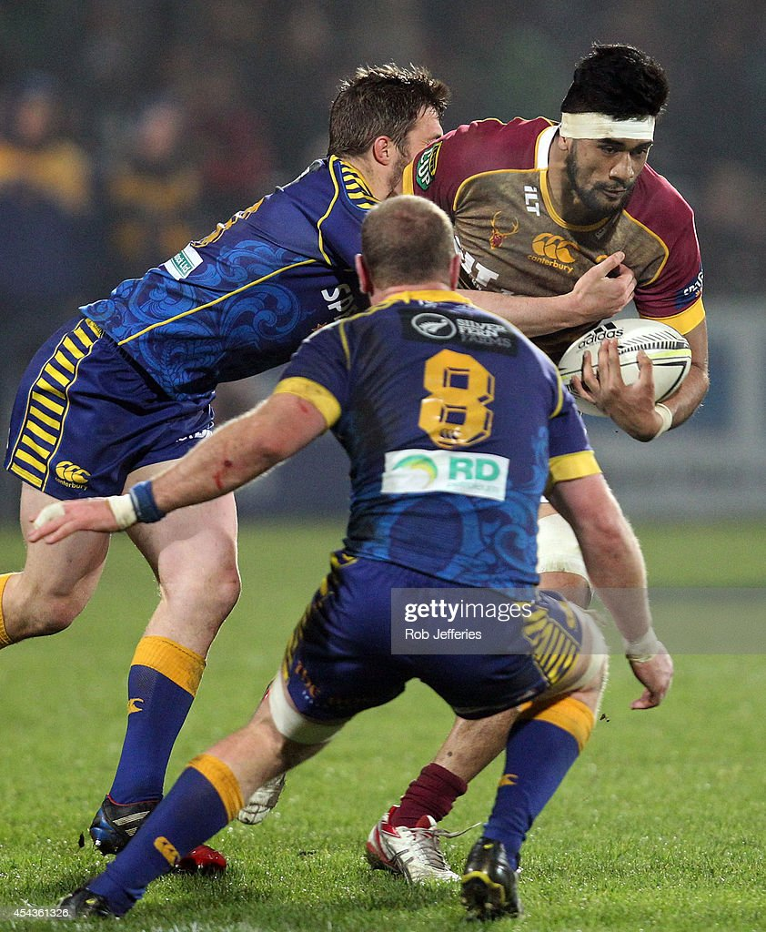 Michael Fatialofa of Southland on the charge during the ITM Cup match between Southland and Otago on August 30, 2014 in Invercargill, New Zealand.