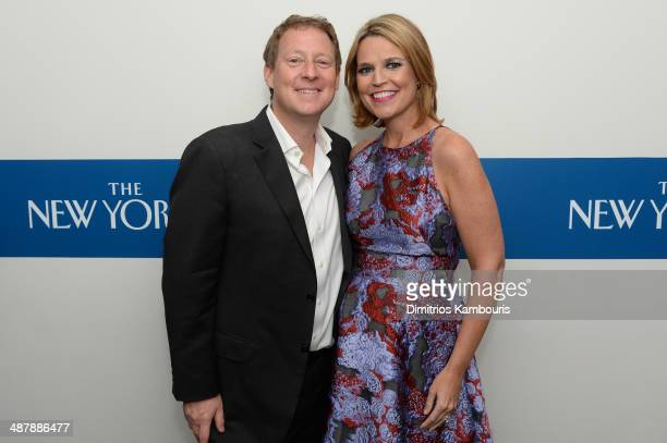 Michael Feldman and Journalist Savannah Guthrie attend the White House Correspondents' Dinner Weekend PreParty hosted by The New Yorker's David...