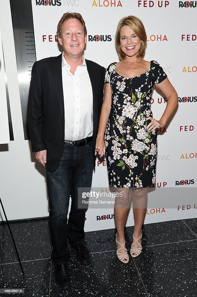 Michael Feldman and Savannah Guthrie attend the 'Fed Up' premiere at Museum of Modern Art on May 6, 2014 in New York City.