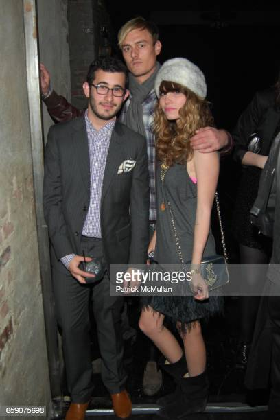 Michael Fenton AJ Jacobson and Camille Rousseau attend Bryan Rabin Kelly Cole and Ian Cripps Present Diamond Dogs at hwood on April 9 2009 in...