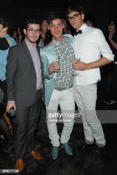 Michael Fenton Alessandro Tomassetti and Ryan Dedonato attend Bryan Rabin Kelly Cole and Ian Cripps Present Diamond Dogs at hwood on April 9 2009 in...