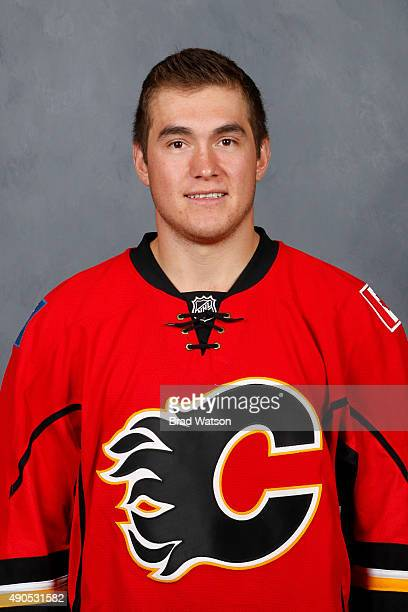 Michael Ferland of the Calgary Flames poses for his official headshot for the 20152016 season on September 17 2015 at the WinSport Winter Sport...