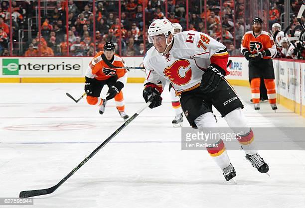 Michael Ferland of the Calgary Flames skates against the Philadelphia Flyers on November 27 2016 at the Wells Fargo Center in Philadelphia...