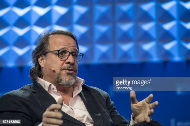 Michael Ferro chairman and chief executive officer of Merrick Ventures LLC speaks at the Milken Institute Global Conference in Beverly Hills...
