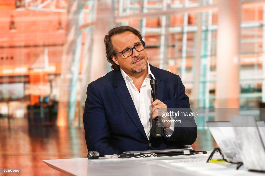 Michael Ferro, chairman of Tribune Publishing Co., listens during a Bloomberg Television interview in New York, U.S., on Thursday, May 5, 2016. Ferro discussed the company's rejection of a proposed acquisition by Gannett Co. Photographer: Chris Goodney/Bloomberg via Getty Images