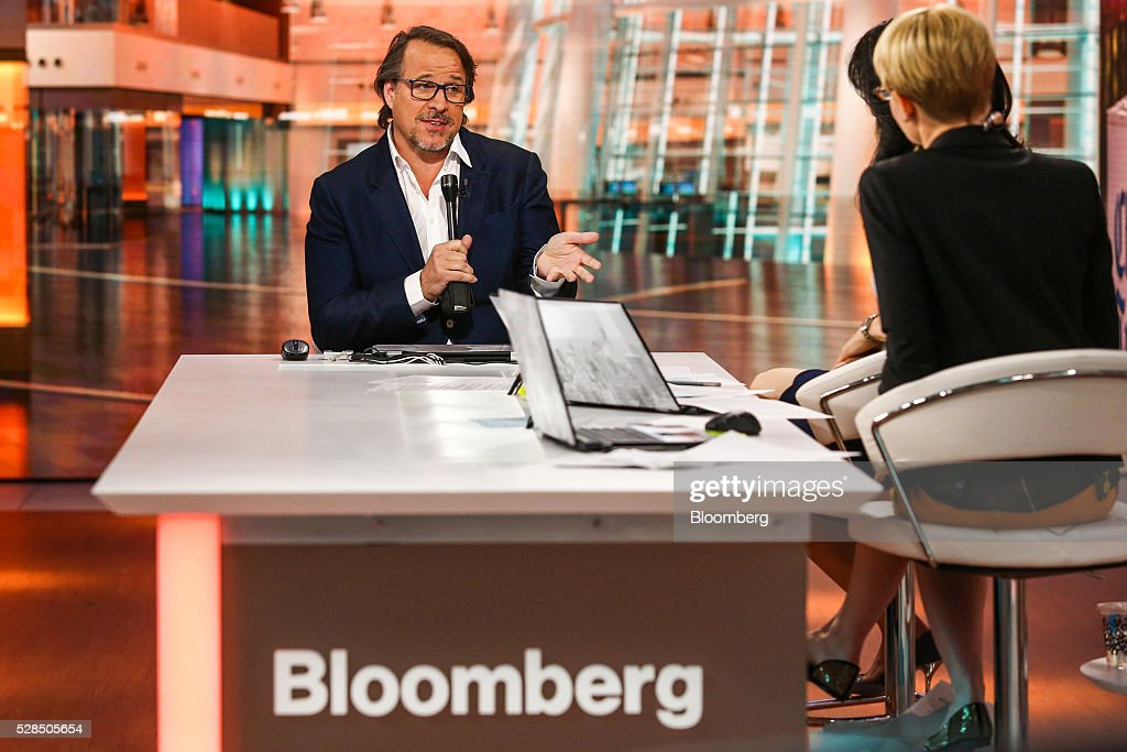 Michael Ferro, chairman of Tribune Publishing Co., speaks during a Bloomberg Television interview in New York, U.S., on Thursday, May 5, 2016. Ferro discussed the company's rejection of a proposed acquisition by Gannett Co. Photographer: Chris Goodney/Bloomberg via Getty Images