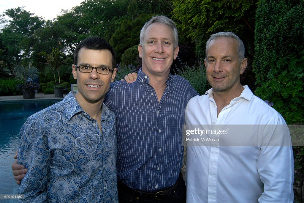 Michael Field, Jeff Arnstein and Ken Kuchin attend School's Out 2008, benefiting The Hetrick-Martin Institute, home of the Harvey Milk High School at East Hampton on June 9, 2008 in East Hampton, New York.