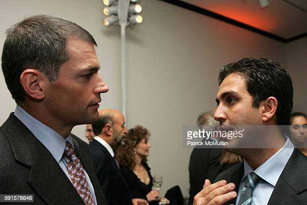 Michael Fisch and Omid Memarian attend Human Rights Watch Annual Dinner 'Voices For Justice' at Museum of Natural History on November 8 2005 in New...