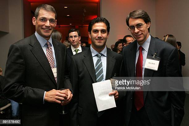 Michael Fisch Omid Memarian and Ken Roth attend Human Rights Watch Annual Dinner 'Voices For Justice' at Museum of Natural History on November 8 2005...