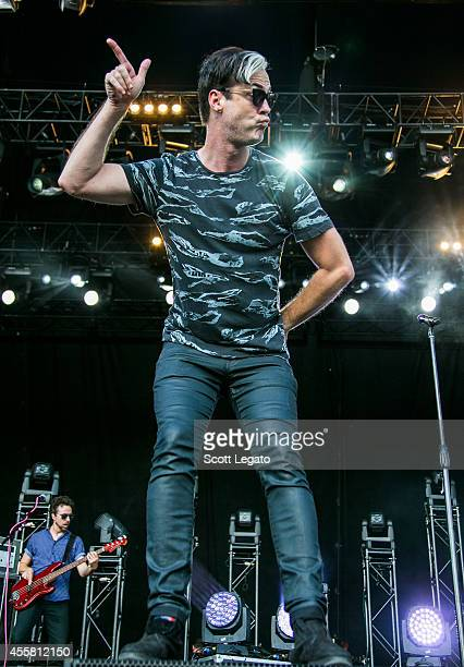 Michael Fitzpatrick of Fitz and the Tantrums performs during the 2014 Music Midtown Festival at Piedmont Park on September 20 2014 in Atlanta Georgia