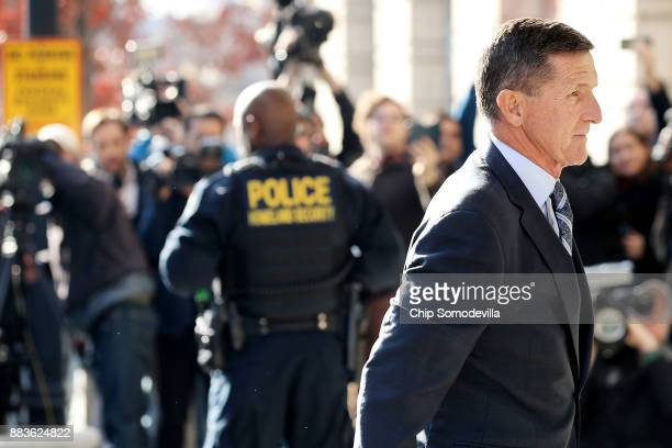 Michael Flynn former national security advisor to President Donald Trump arrives for his plea hearing at the Prettyman Federal Courthouse December 1...