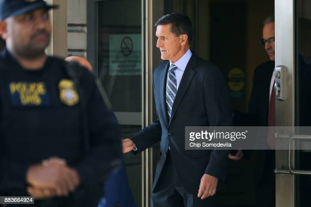 Michael Flynn former national security advisor to President Donald Trump leaves following his plea hearing at the Prettyman Federal Courthouse...