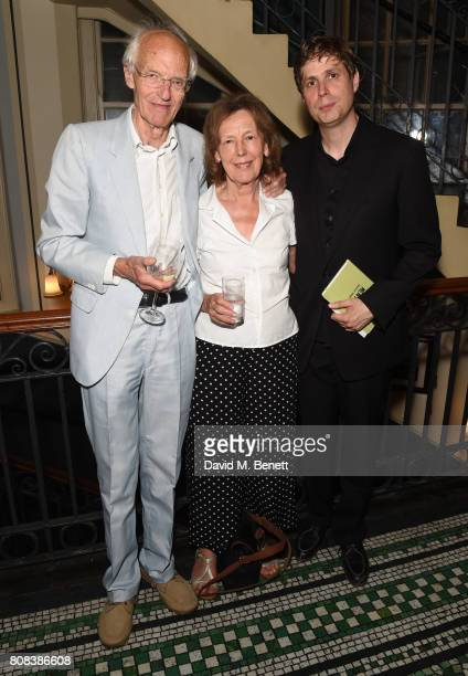 Michael Frayn Claire Tomalin and Daniel Kehlmann attend the press night after party for 'The Mentor' at Browns Covent Garden on July 4 2017 in London...