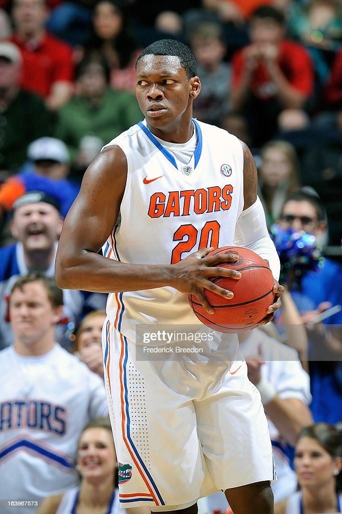 Michael Frazier II #20 of the Florida Gators plays against the Ole Miss Rebels during the SEC Baskebtall Tournament Championship Game at Bridgestone Arena on March 17, 2013 in Nashville, Tennessee.