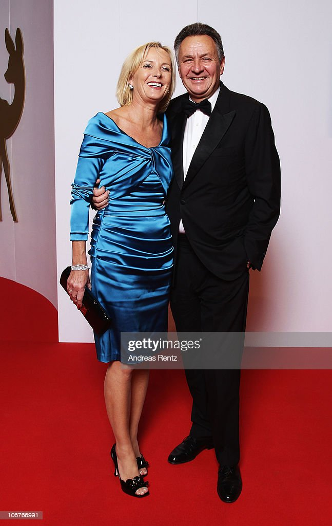 <a gi-track='captionPersonalityLinkClicked' href=/galleries/search?phrase=Michael+Frenzel&family=editorial&specificpeople=722251 ng-click='$event.stopPropagation()'>Michael Frenzel</a> arrives with his wife for the Bambi 2010 Award at Filmpark Babelsberg on November 11, 2010 in Potsdam, Germany.