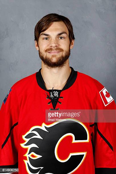 Michael Frolik of the Calgary Flames poses for his official headshot for the 20162017 season on September 24 2016 at the Scotiabank Saddledome in...