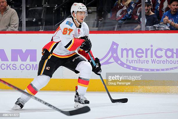 Michael Frolik of the Calgary Flames skates against the Colorado Avalanche at Pepsi Center on November 3 2015 in Denver Colorado
