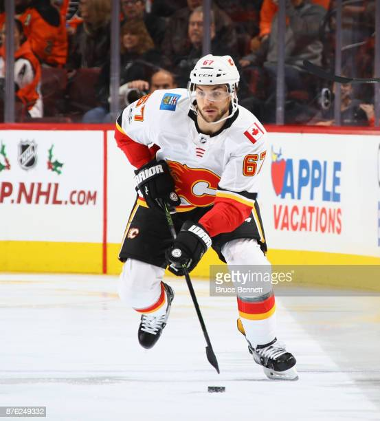 Michael Frolik of the Calgary Flames skates against the Philadelphia Flyers at the Wells Fargo Center on November 18 2017 in Philadelphia...