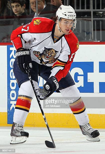 Michael Frolik of the Florida Panthers skates against the New Jersey Devils at the Prudential Center on January 20 2010 in Newark New Jersey The...