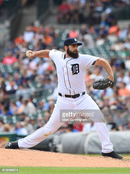 Michael Fulmer of the Detroit Tigers pitches during the game against the Kansas City Royals at Comerica Park on June 29 2017 in Detroit Michigan The...