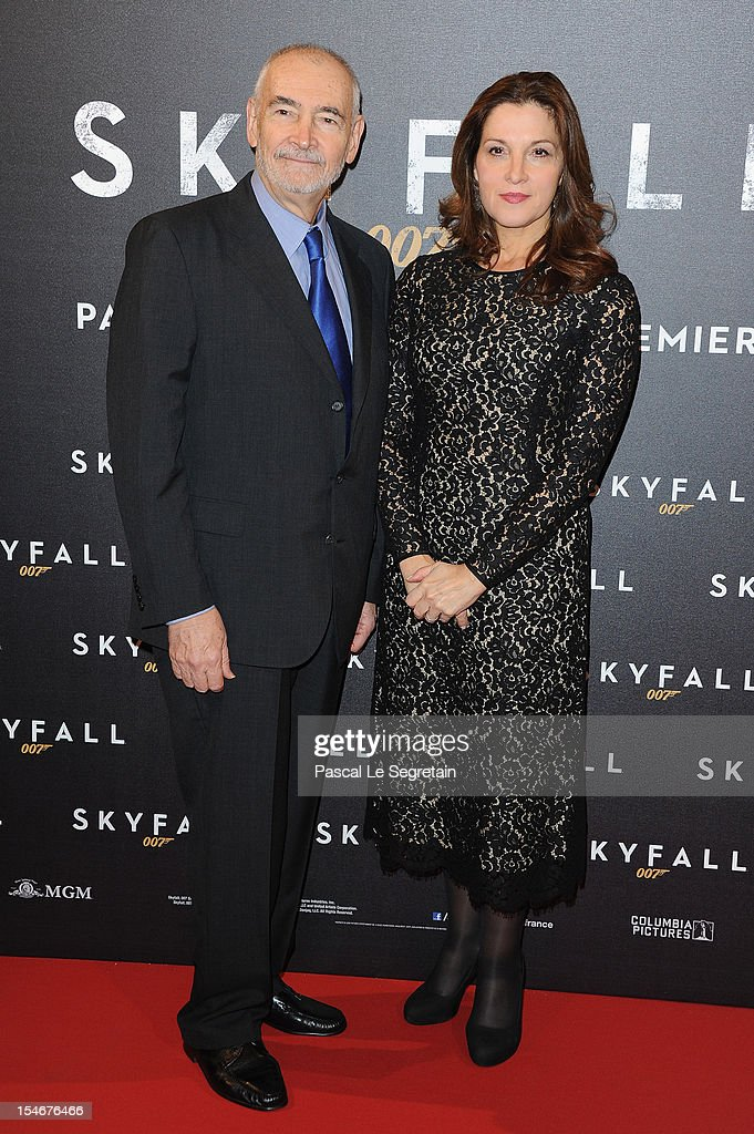 Michael G Wilson and Barbara Broccoili attend the premiere of the latest James Bond 'Skyfall' at Cinema UGC Normandie on October 24, 2012 in Paris, France.