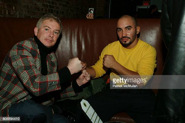Michael Gallagher and David Marrero attend MAO MAG Fashion Week Launch Party at Sol on February 2 2006 in New York City