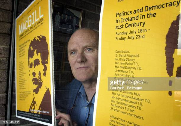 Michael Gallagher Chairman of the MacGill Summer School Committee in Glenties in Co Donegal for the start of the Summer School Heated debates are...