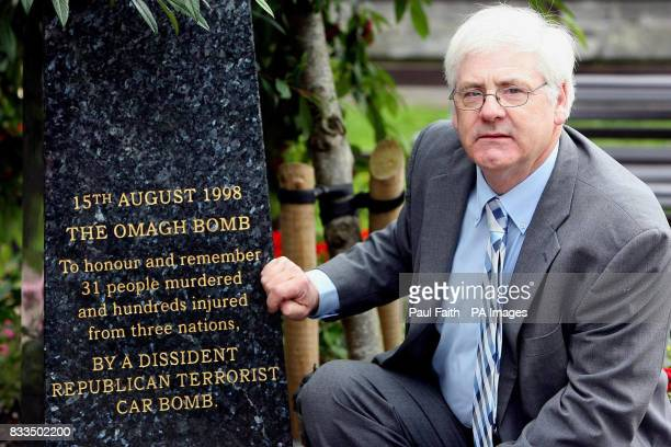 Michael Gallagher who lost his son Aidan in the Omagh bomb Explosion pictured in the Memorial garden in Omagh