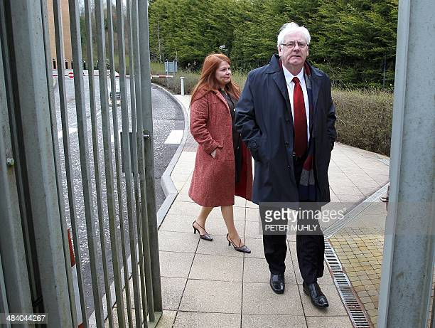 Michael Gallagher whose son Aidan was killed during the Omagh bombing arrives with his daughter Kat for a hearing at the Dungannon Magistrates Court...
