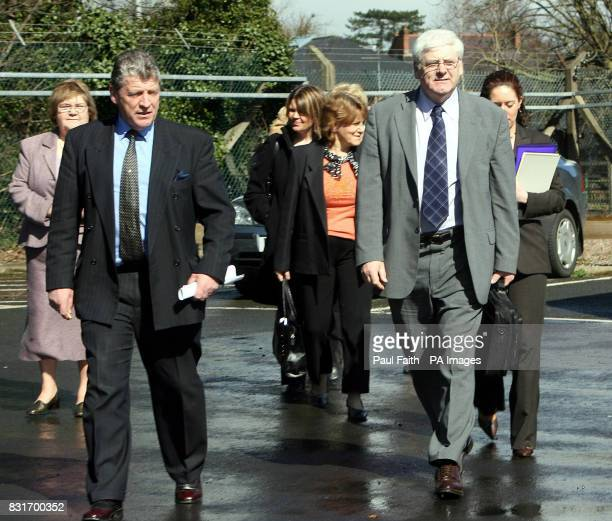 Michael Gallagher with Stanley McComb lead a delegation of Omagh victims' families into a meeting with Northern Ireland Chief Constable Sir Hugh Orde...