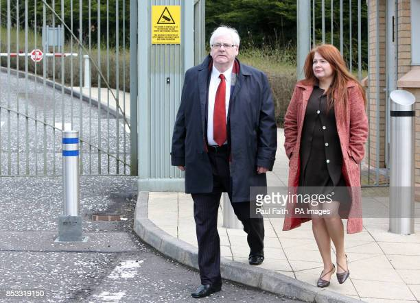 Michael Gallagherwho lost his son Aidan in the Omagh bomb attack with his daughter Kat outside Dungannon courthouse