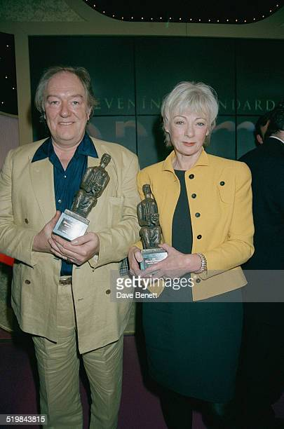 Michael Gambon and Geraldine McEwan at the Evening Standard Theatre Awards held at the Savoy Hotel London 24th November 1995 Gambon won Best Actor...