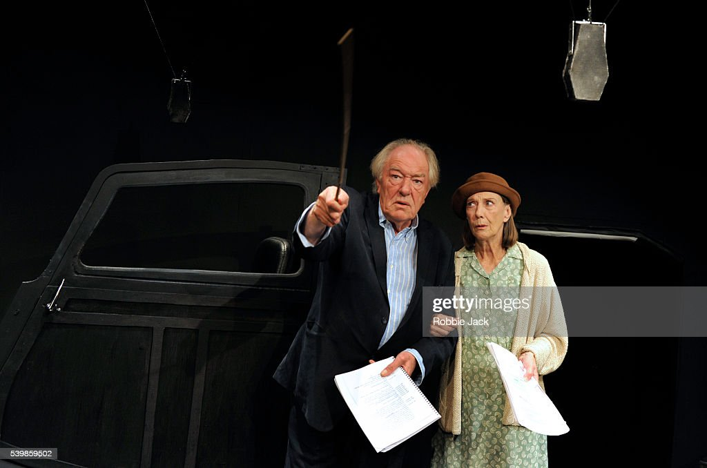 Michael Gambon as Mr Rooney and Eileen Atkins as Mrs Rooney in Samuel Beckett's All That Fall directed by Trevor Nunn at the Jermyn Street Theatre in...