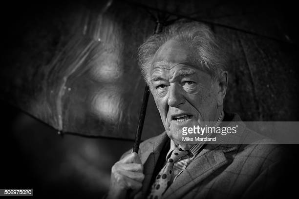 Michael Gambon attends 'Dad's Army' World Premiere on January 26 2016 in London United Kingdom