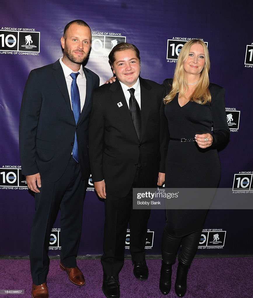<a gi-track='captionPersonalityLinkClicked' href=/galleries/search?phrase=Michael+Gandolfini&family=editorial&specificpeople=2196017 ng-click='$event.stopPropagation()'>Michael Gandolfini</a> and <a gi-track='captionPersonalityLinkClicked' href=/galleries/search?phrase=Marcy+Wudarski&family=editorial&specificpeople=2196015 ng-click='$event.stopPropagation()'>Marcy Wudarski</a> attends the Wounded Warrior Project Carry Foward Awards Arrivals at Club Nokia on October 10, 2013 in Los Angeles, California.