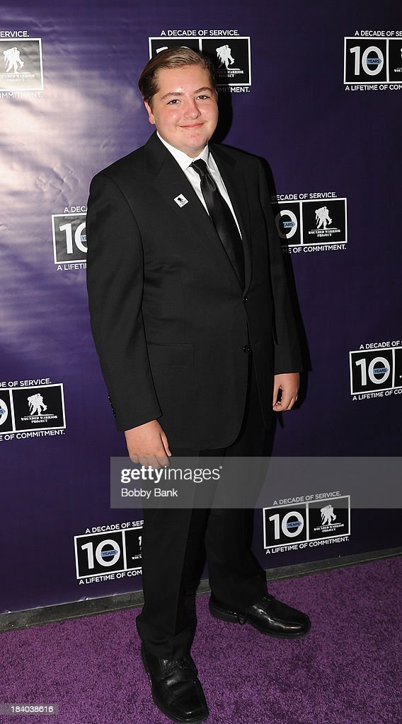 <a gi-track='captionPersonalityLinkClicked' href=/galleries/search?phrase=Michael+Gandolfini&family=editorial&specificpeople=2196017 ng-click='$event.stopPropagation()'>Michael Gandolfini</a> attends the Wounded Warrior Project Carry Foward Awards Arrivals at Club Nokia on October 10, 2013 in Los Angeles, California.
