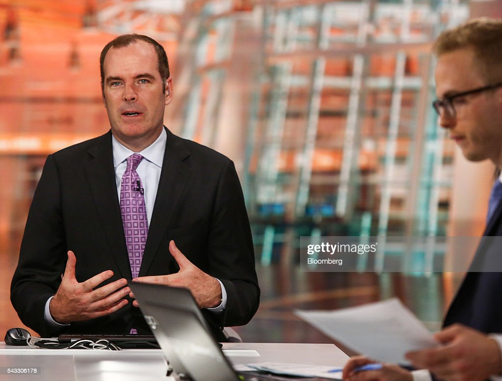 Michael Gapen, chief U.S. economist of Barclays Capital Inc., speaks during a Bloomberg Television interview in New York, U.S., on Monday, June 27, 2016. Gapen discussed the strengthening of the U.S. dollar amid global volatility in the aftermath of the U.K.'s Brexit referendum. Photographer: Chris Goodney/Bloomberg via Getty Images