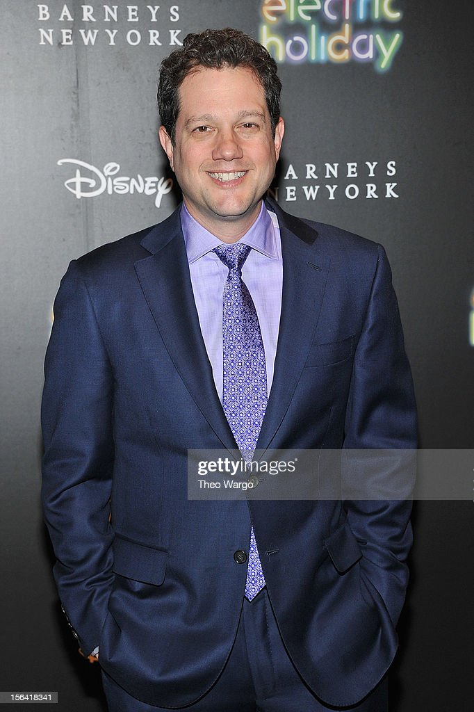 <a gi-track='captionPersonalityLinkClicked' href=/galleries/search?phrase=Michael+Giacchino&family=editorial&specificpeople=798678 ng-click='$event.stopPropagation()'>Michael Giacchino</a> attends Barneys New York And Disney Electric Holiday Window Unveiling Hosted By Sarah Jessica Parker, Bob Iger, And Mark Lee on November 14, 2012 in New York City.