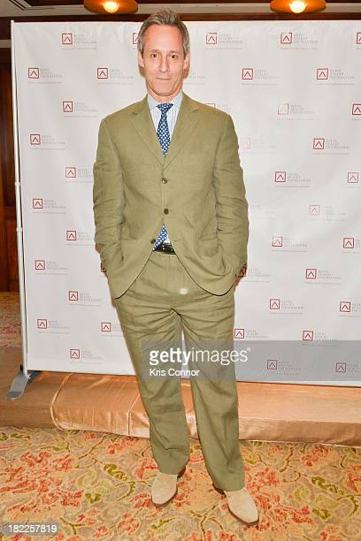 Michael Gill poses on the red carpet during the Kevin Spacey Foundation Washington Gala Dinner at Mandarin Oriental Hotel on September 28 2013 in...