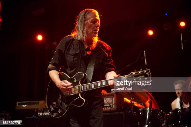 Michael Gira and Phil Puleo of Swans perform on stage at Sala Apolo on October 15 2017 in Barcelona Spain