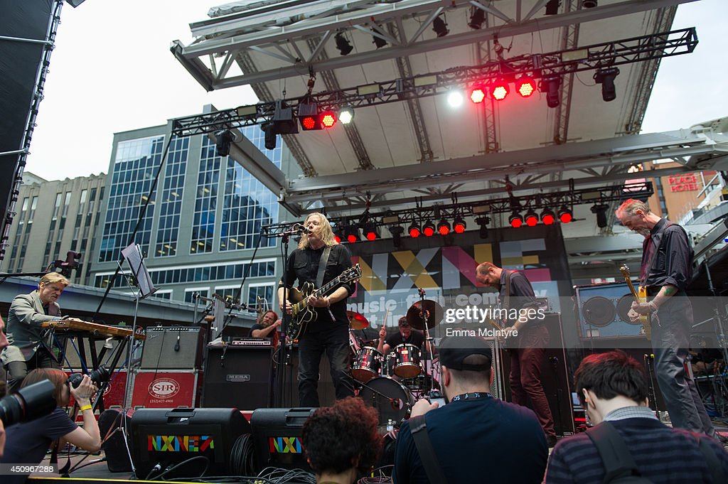 Michael Gira and Swans performs at the 2014 NXNE music festival at Yonge-Dundas Square on June 20, 2014 in Toronto, Canada.