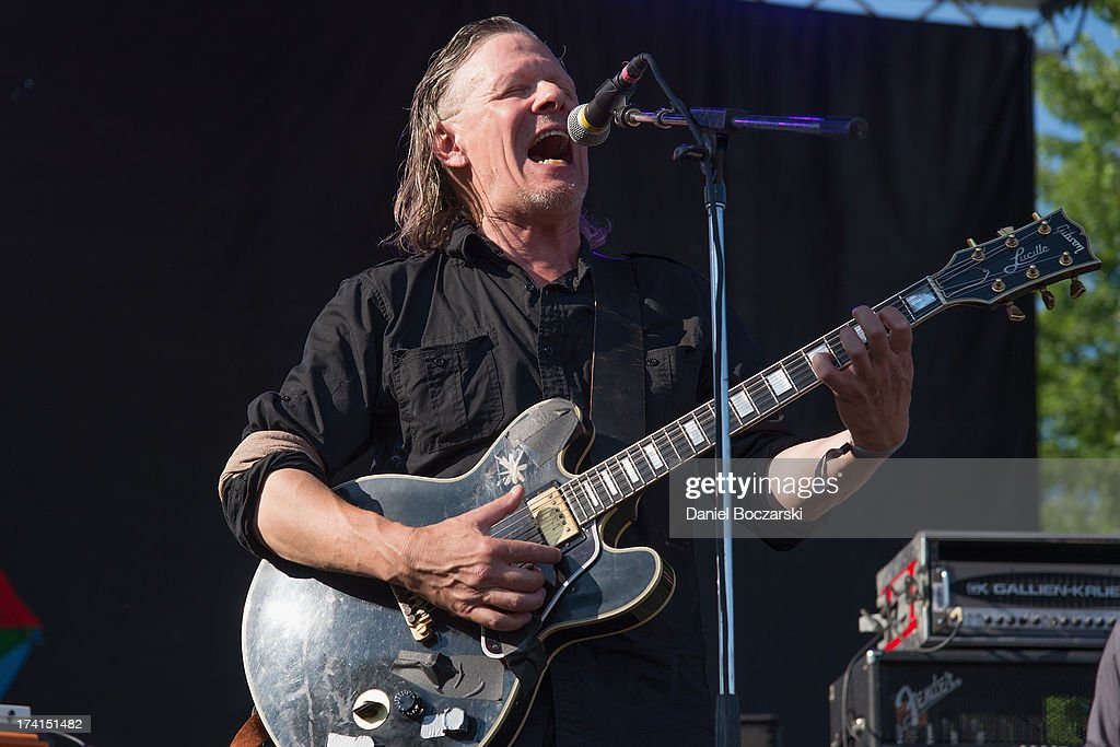 Michael Gira of Swans performs on stage on Day 2 of Pitchfork Music Festival 2013 at Union Park on July 20, 2013 in Chicago, Illinois.