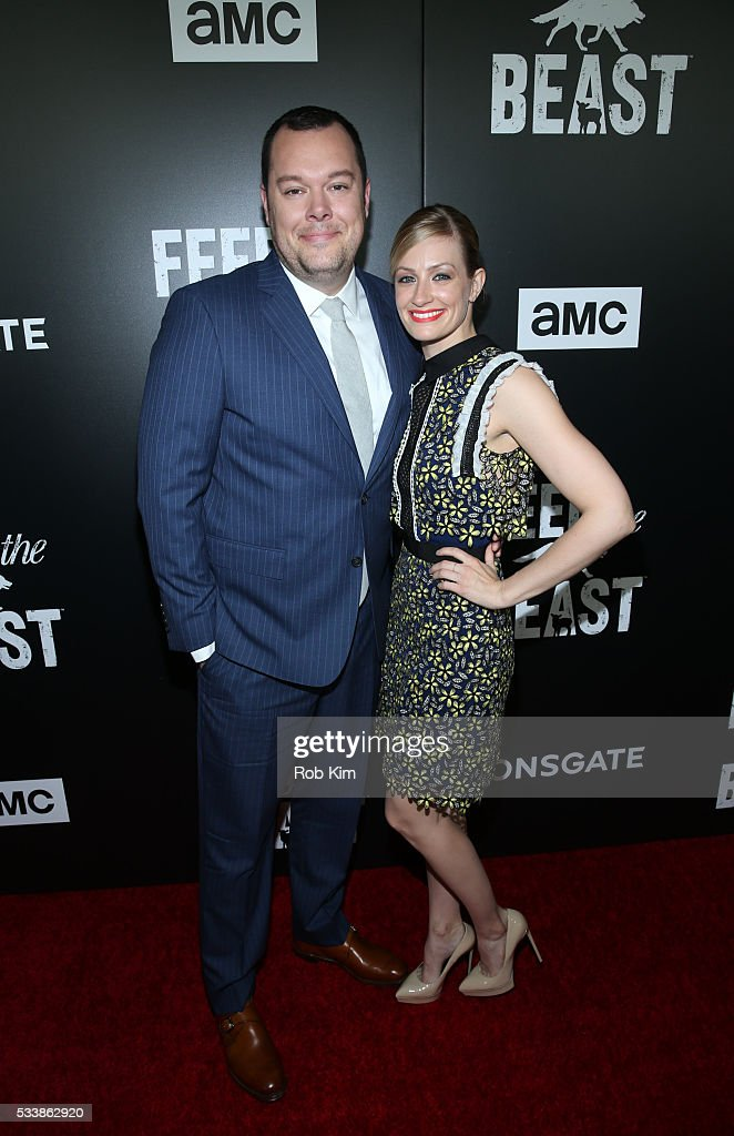Michael Gladis and Beth Behrs attend the New York Screening of 'Feed The Beast' at Angelika Film Center on May 23, 2016 in New York City.